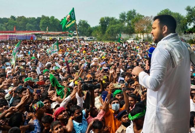 'Not promising 1 crore jobs': Tejashwi Yadav releases RJD manifesto; takes dig at BJP, Nitish Kumar