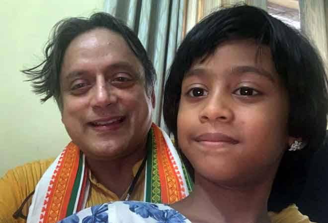 Heart warming! 7-year-old girl congratulates Shashi Tharoor on poll victory