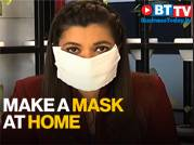 As face masks become scarce, here's how to make one at home