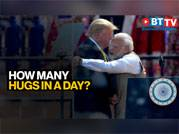 The number of times Trump and Modi hugged on day one of visit