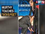 Watch as Infosys founder Narayana Murthy touches Ratan Tata's feet