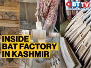 Inside bat factory in Kashmir