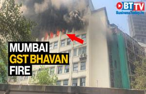 Major fire breaks out at GST Bhavan in Mumbai's Byculla