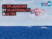 Two NASA astronauts in SpaceX capsule make first splashdown in 45 yrs