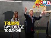 Trump, First Lady pay homage to Gandhi at his memorial Rajghat