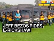 Amazon rolls out e-rickshaws; Bezos seen driving one
