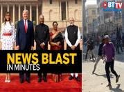 Trumps in Delhi for Day 2; Clashes over CAA in Delhi