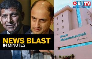 Rajan, Acharya on RBI's new banking proposal; Biocon buys stake in Hinduja Renewables