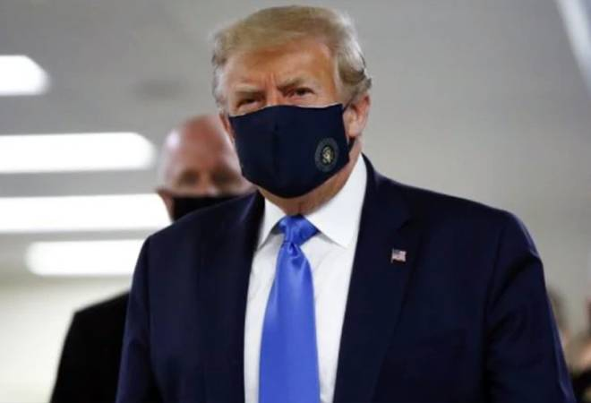 Coronavirus crisis: Donald Trump wears face mask in public for first time