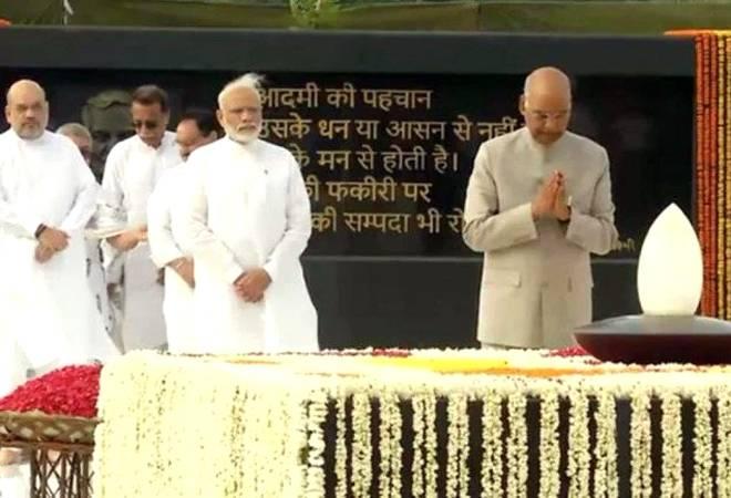 President Kovind, PM Modi pay homage to Atal Bihari Vajpayee on his first death anniversay