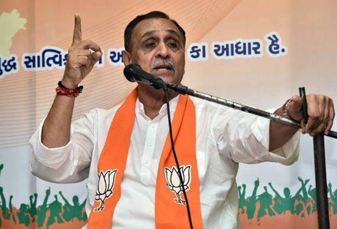 Image result for Gujarat Chief Minister Vijay Rupani Faints While Addressing Poll Rally