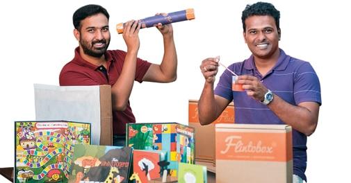 Flinto Co-founders Vijaybabu Gandhi (left) and Arunprasad Durairaj