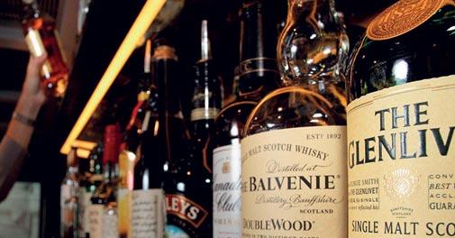High on whisky