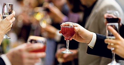 To wine tasting parties