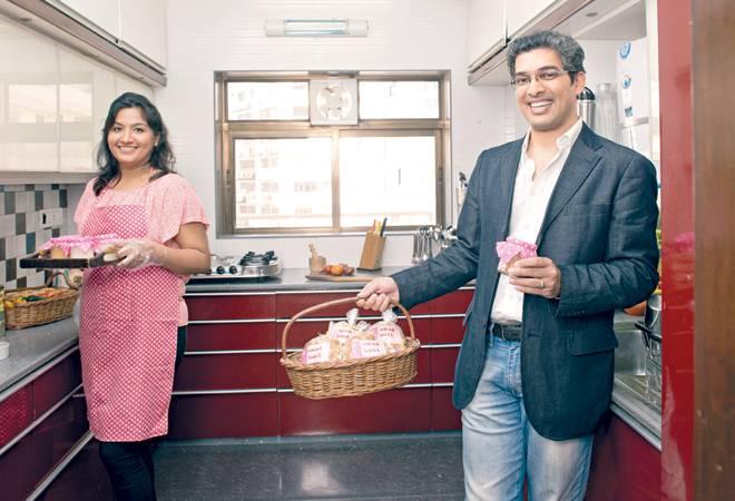Gaurav Tandon, Co-founder, Yummade, with Raashi Malhotra Sawhney, a supply partner chef, in Mumbai