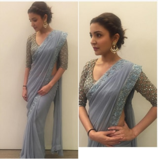 e2d5b7a2e46648 Deepika Padukone does full justice to this Dev R Nil sari by adding her own  brand of cool to it.