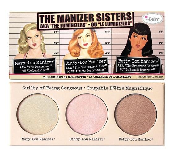 "TheBalm The Manizer Sisters AKA The ""Luminizers"" Trio Makeup Palette"