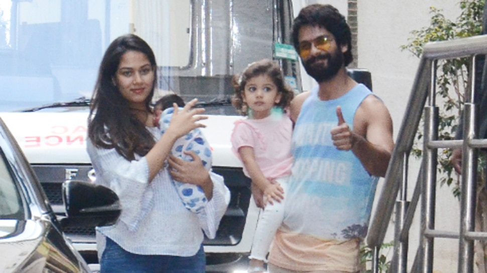 Image result for latest images of shahid kapoor with his family