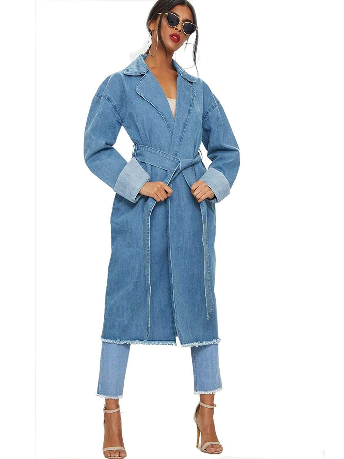A Denim Trench + Matching Skinnies