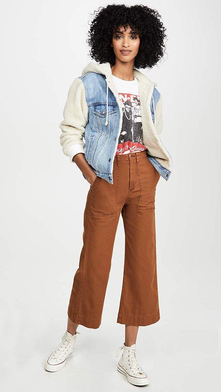 A Half Shearling Jacket + Culottes