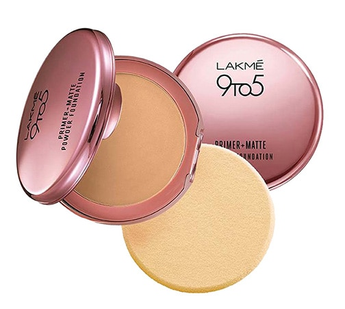BUDGET BUY-Lakmé 9To5 Primer + Matte Powder Foundation Compact