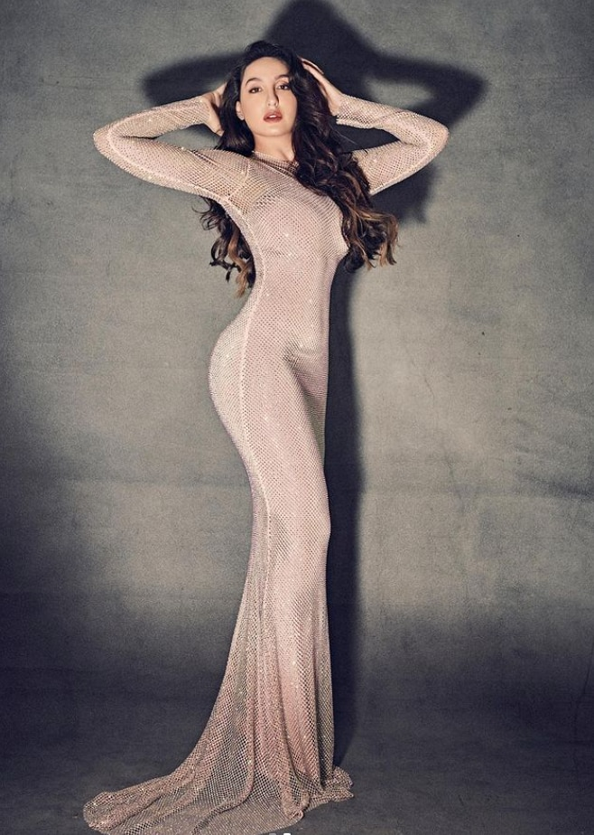 Nora Fatehi naked dress