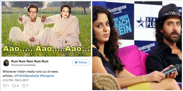These Memes About The Hrithik Roshan-Kangana Ranaut