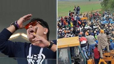 Tooter, Cyclone nivar, Farmers' protest, Diegomaradona