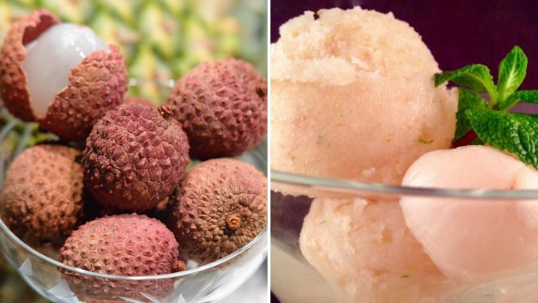 Summer foods, Sorbet, Litchis, Dailyrecco