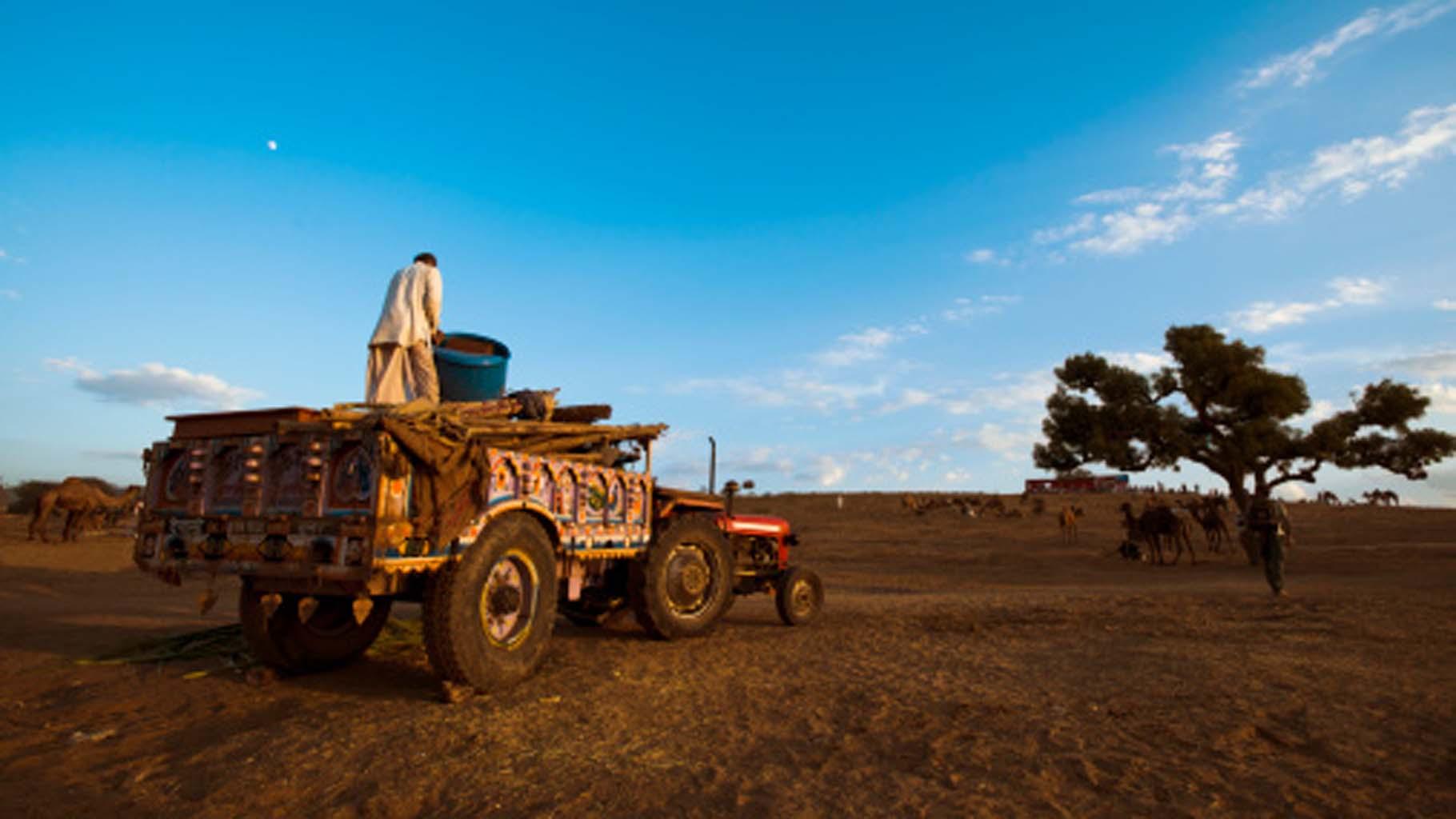 Farmers, Father-son relationship, Tractor trolley, Farming
