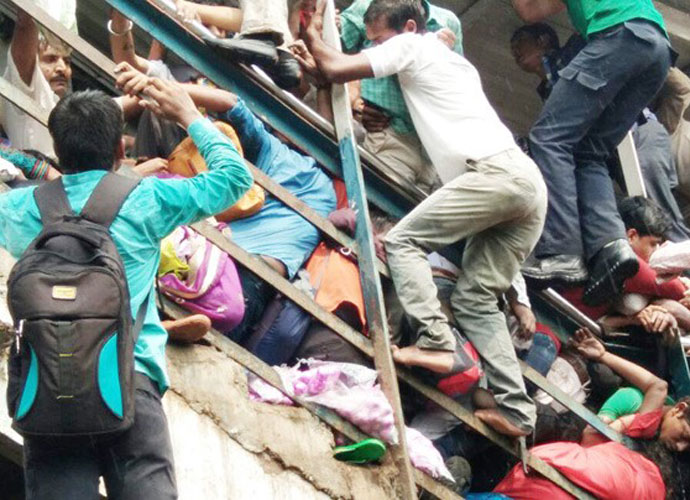 According to early reports, rain led to the stampede on the Elphinstone Road station bridge. India Today
