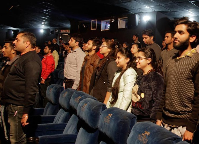 The Supreme Court has made it compulsory for movie-goers to stand up for the national anthem. AP File