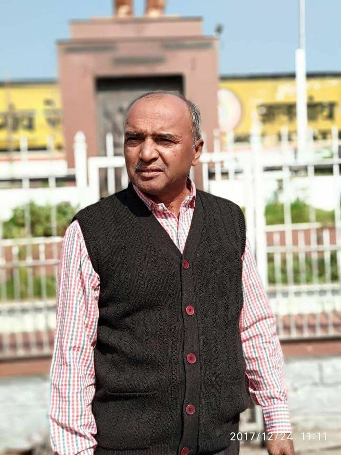 Bhanubhai Vankar immolated himself on February 15. Photo: Jignesh Mevani/Facebook