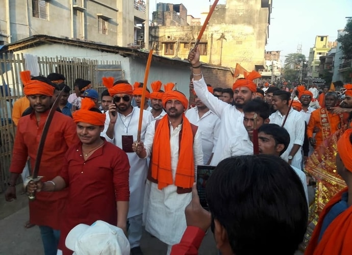 Arijit Shashwat at a Ram Navami rally. Photo credit: Facebook/Arijit Shashwat