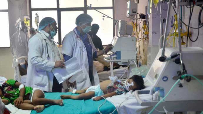 In November 2017, 70 children again died at the same hospital in Gorkahpur, within five days.