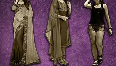 Shorts, Salwar kameez, Women, Saree