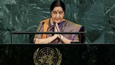 Sushma Swaraj, UNGA, India-Pak, Pakistan