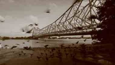 Kolkata, Calcutta, Hooghly, Howrah bridge