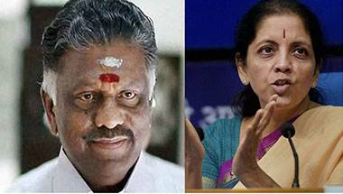BJP alliances, Defence, O Panneerselvam, Nirmala Sitharaman