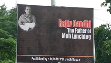 Maut ka saudagar, Rajiv Gandhi, Father of lynchings, 1984 anti-Sikh riots