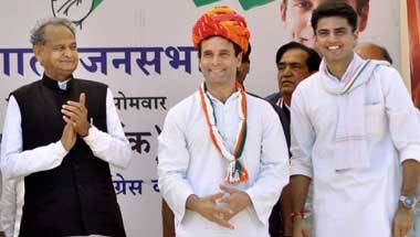 Ashok Gehlot, Sachin Pilot, Rajasthan elections results 2018, Rajasthan assembly elections