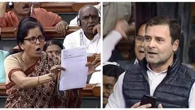 Congress, Nirmala Sitharaman, Rafale row, Rahul Gandhi