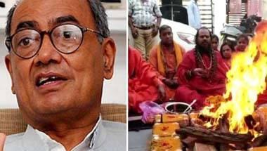 Bhopal elections, Sadhus, Sadhu road show, Digvijaya Singh