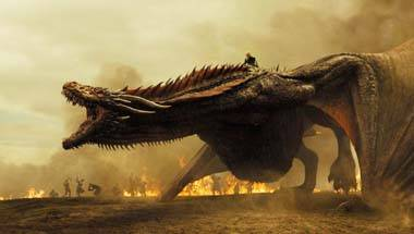 Jon Snow, Daenerys Targaryen, Drogon the dragon, Game of Thrones