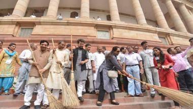 Parliament, Hema malini trolled, Swachh bharat mission, Anurag Thakur