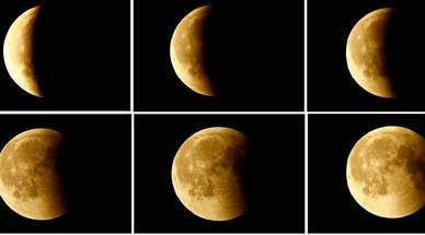Moon, Earth, Visible with naked eye, Partial lunar eclipse