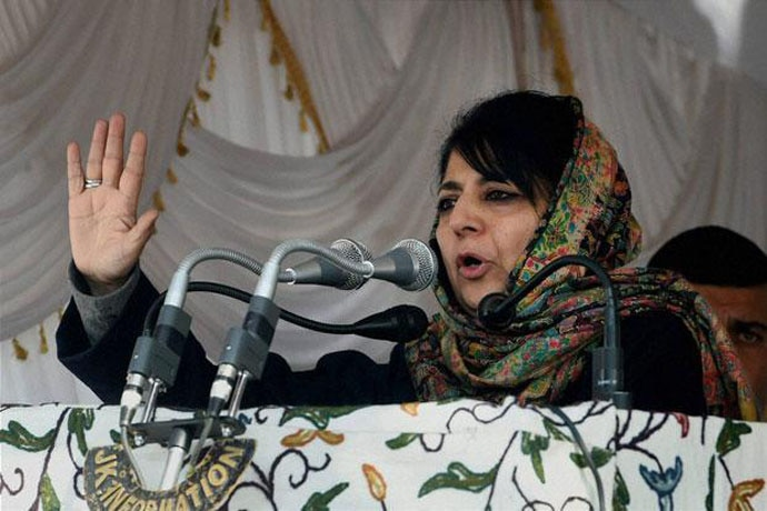 Kashmir's chief minister, Mehbooba Mufti, has been advocating dialogue despite aggravation and very difficult times. Photo: PTI