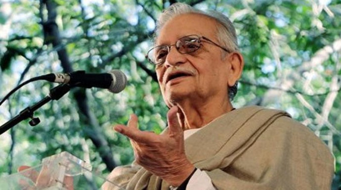 Gulzar borrows phrases from classics, but those are well-established works, with their authorship clear.
