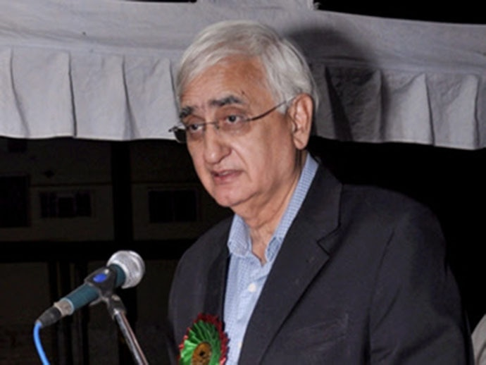 Frank admission: At a recent event at the AMU, Congress leader Salman Khurshid admitted to the 'blood on the Congress' hands'. Photo: PTI