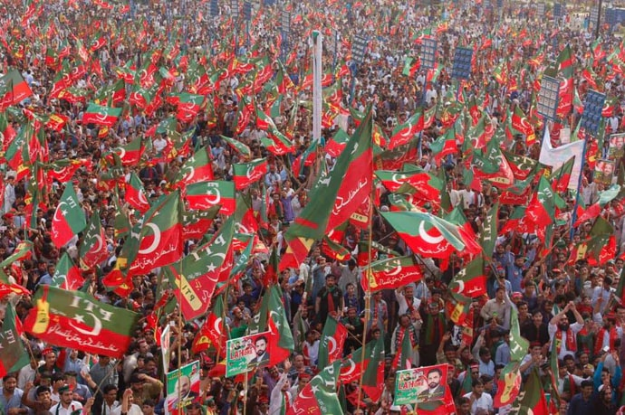The October 30, 2011 Lahore jalsa by Khan's party had been a historic event in Pakistan.